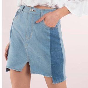 Tobi never worn  light denim colorblock skirt